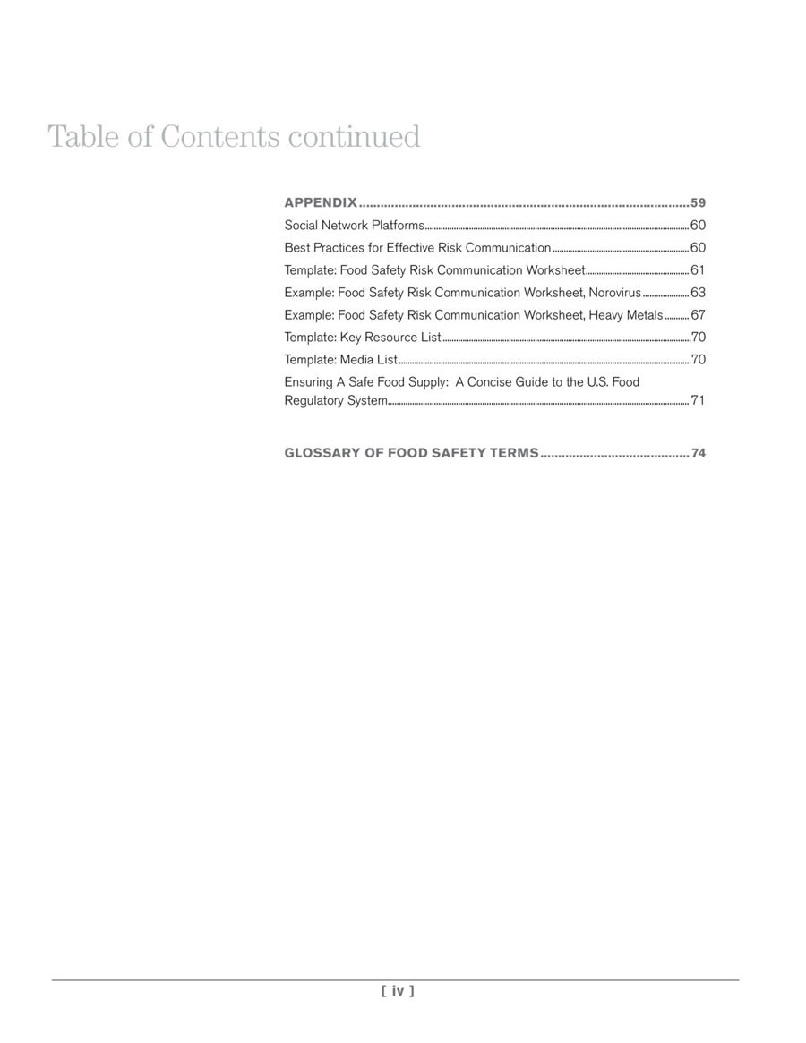 Food Safety A Communicators Guide to Improving Understanding – Effective Communication Worksheets