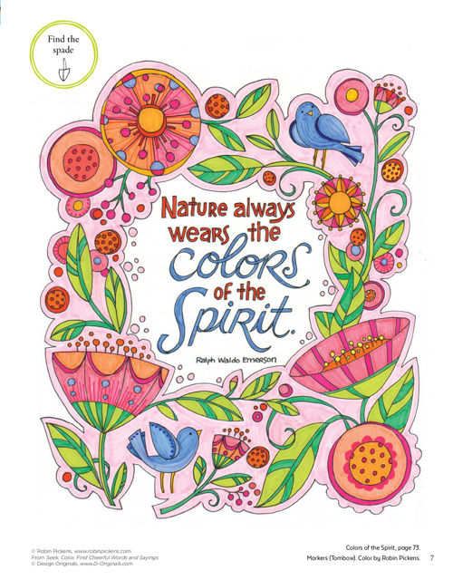 Seek Color Find Cheerful Words And Sayings Fox Chapel Publishing
