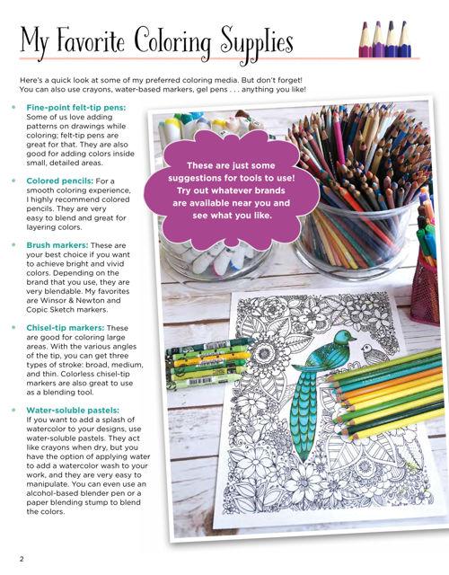 KC Doodle Art Fairies Coloring Book Fox Chapel Publishing
