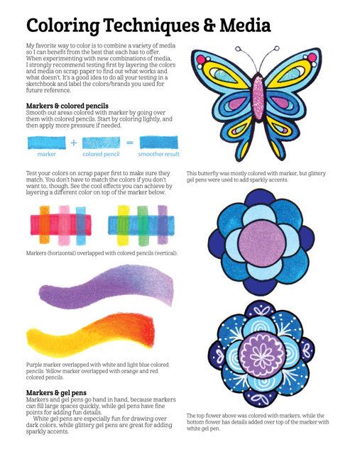 Free Spirit Coloring Book Fox Chapel Publishing