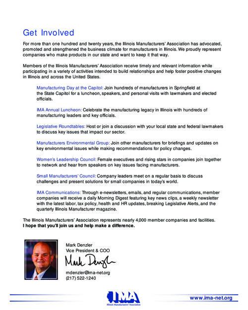 Join the IMA | Illinois Manufacturers' Association