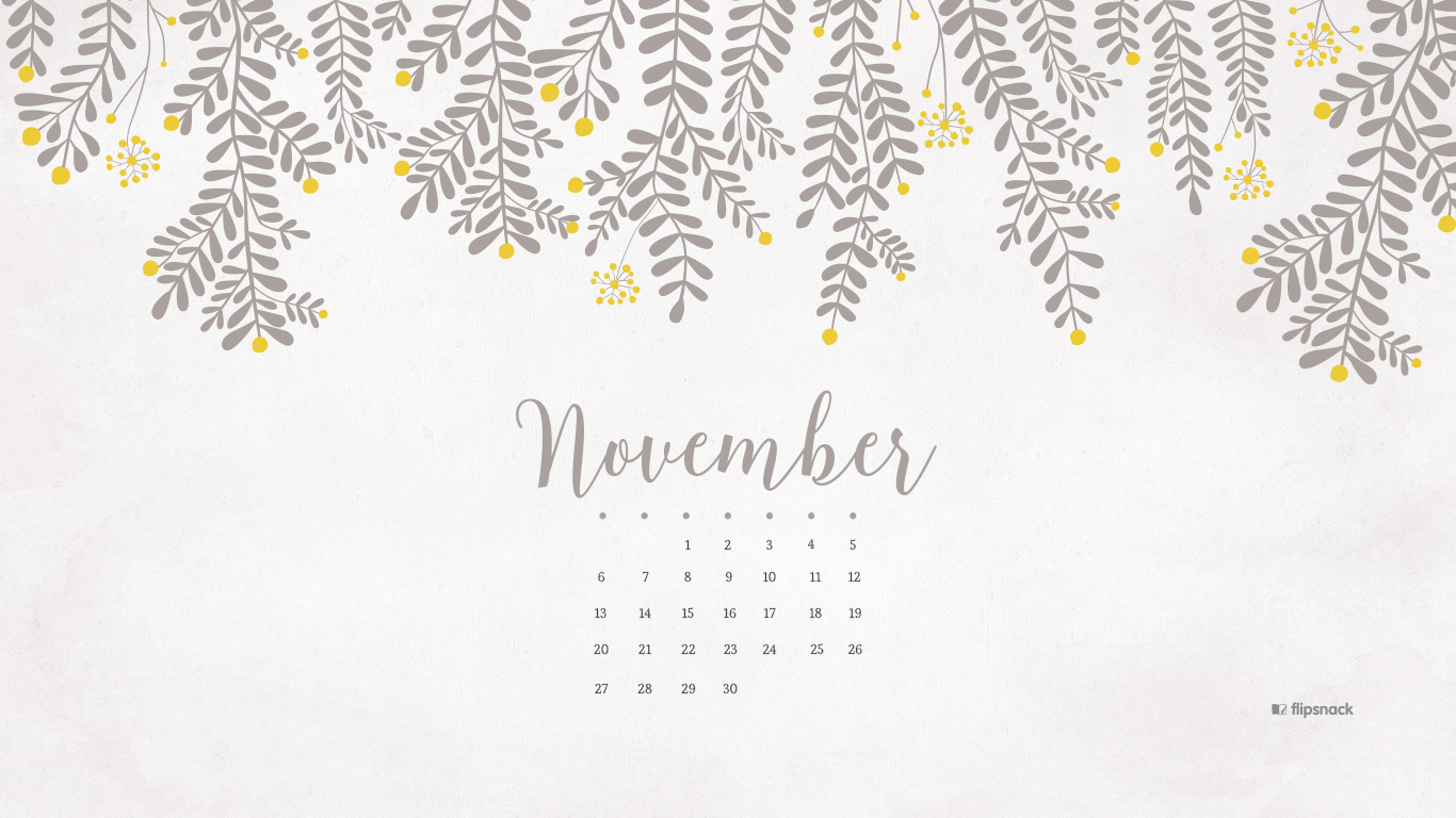 November 2016 free calendar background – desktop wallpaper