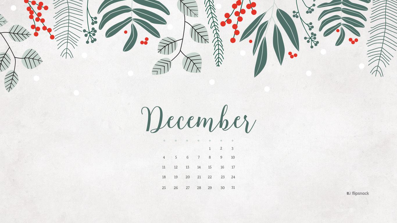 December 2016 Calendar Wallpaper Desktop Background