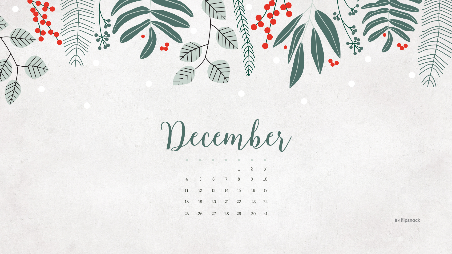 december 2016 calendar wallpaper – desktop background