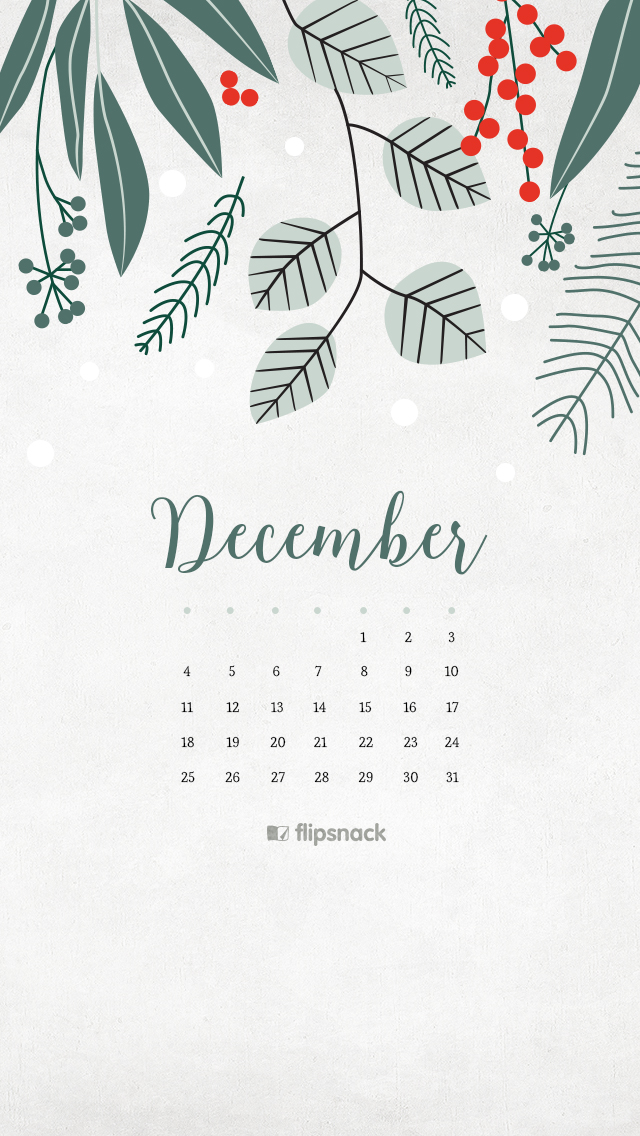 December 2016 Calendar Wallpaper Desktop Background