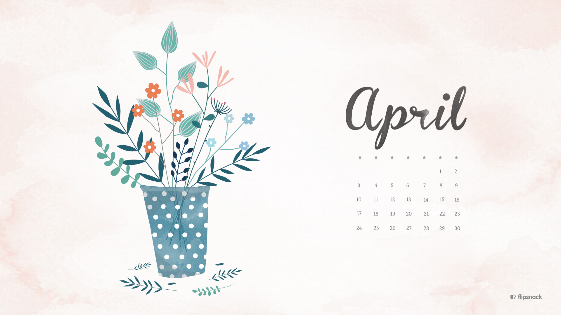 April 2016 Free Calendar Wallpaper Desktop Background