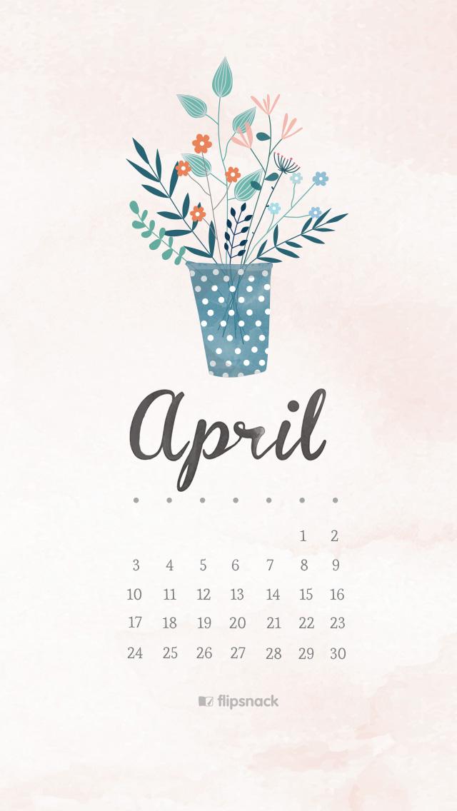 April 2016 Free Calendar Wallpaper Desktop Background