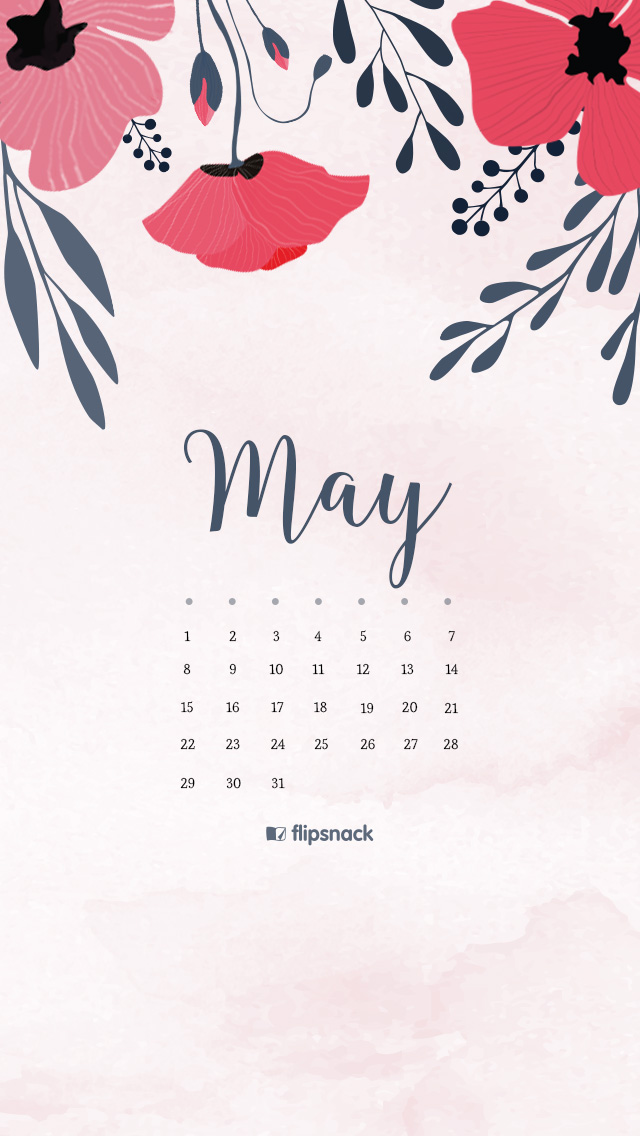 May 2016 Free Calendar Wallpaper Desktop Background