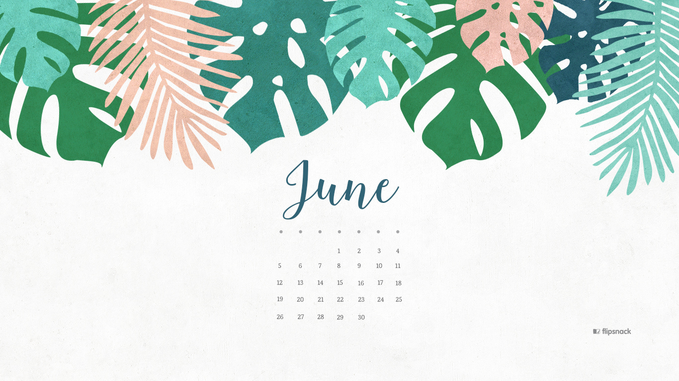 June 2016 Free Calendar Wallpaper Desktop Background