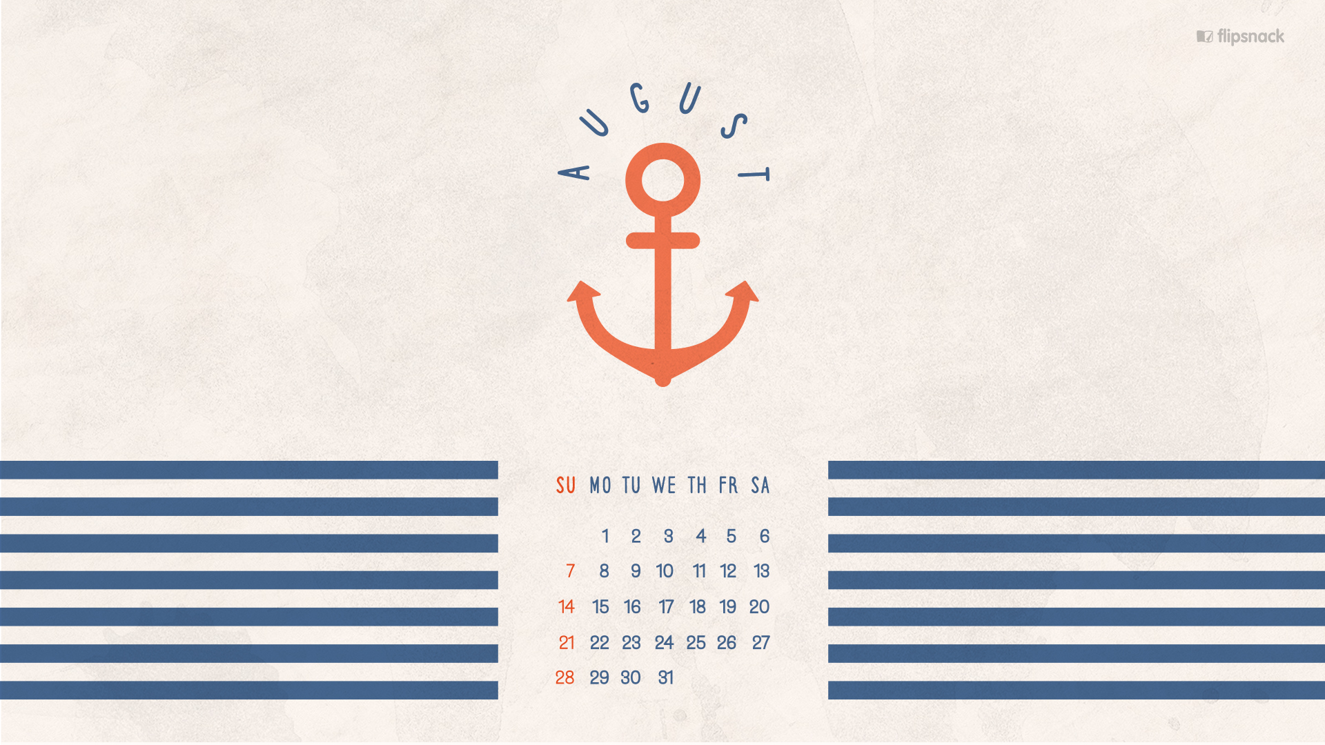august 2016 free calendar desktop wallpaper