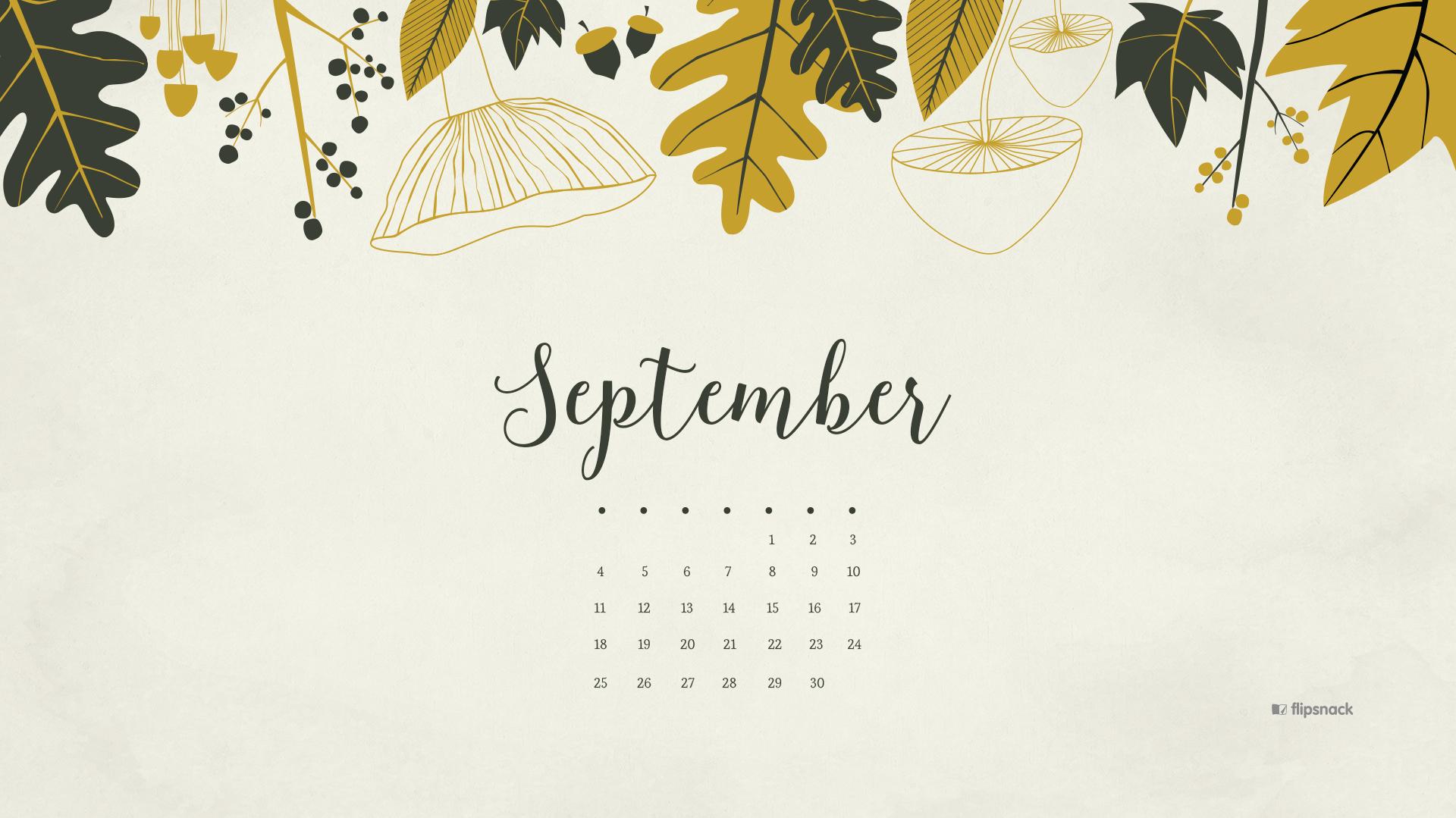 september 2016 free calendar desktop wallpaper