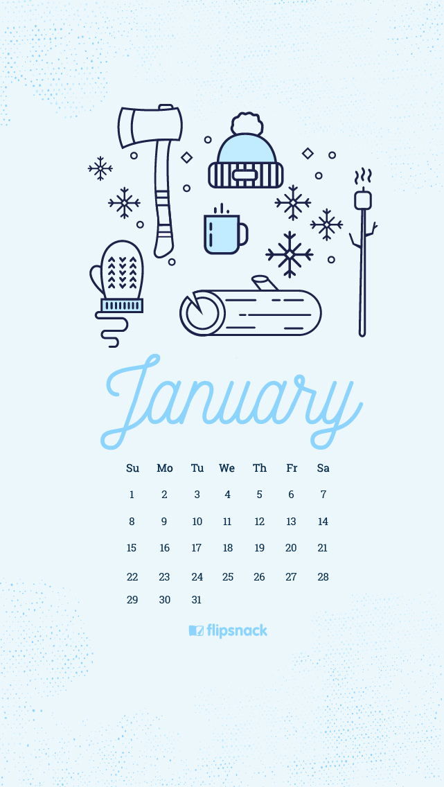 Freebie January 2017 Wallpaper Calendar Desktop Background