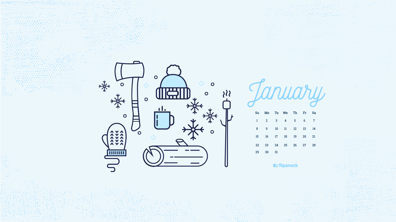Freebie January 2017 Wallpaper Calendar Desktop Background