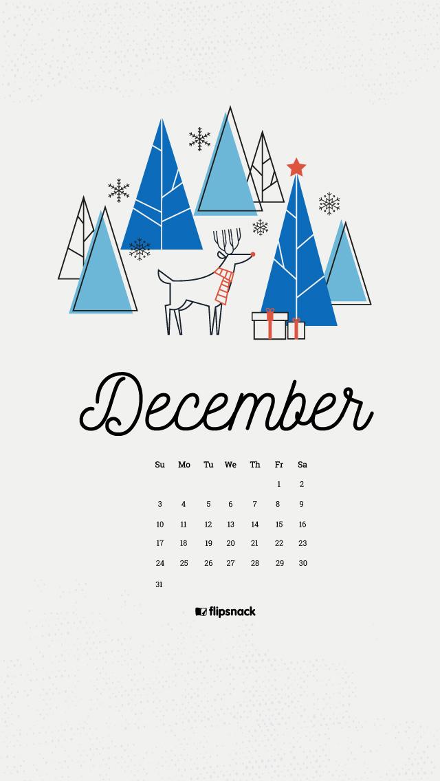 December 2017 Calendar Wallpaper