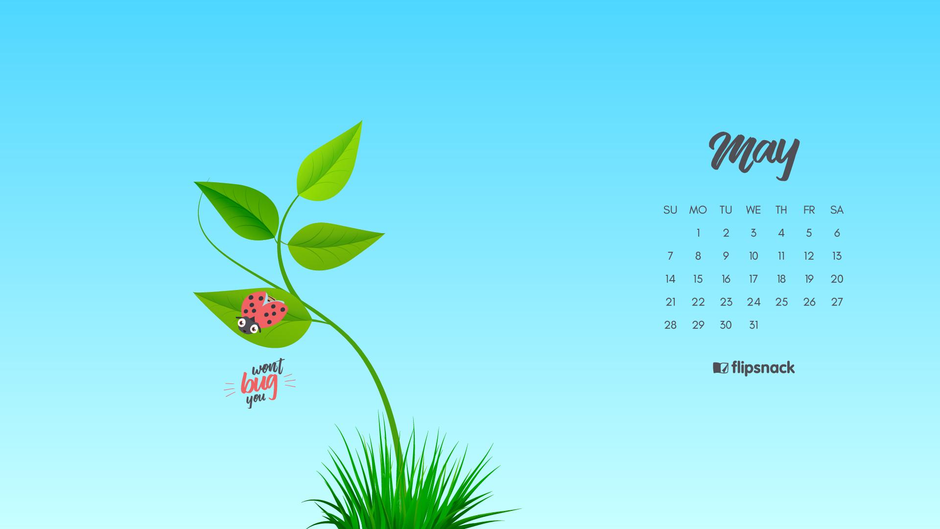 Freebie  May 2017 Wallpaper Calendar