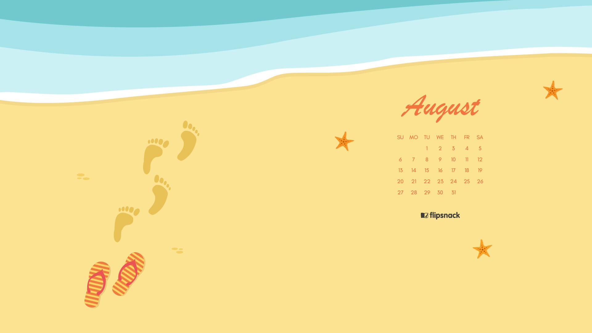 Calendar Wallpaper Live Pc : August calendar wallpaper for desktop background