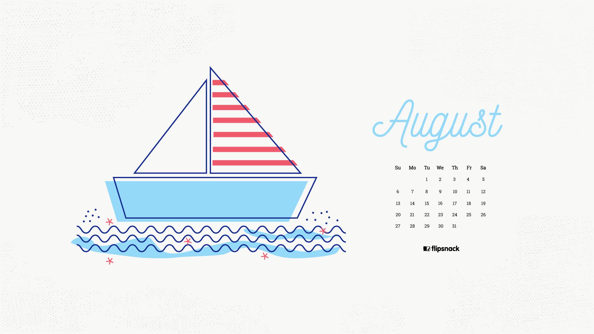 August 2017 Calendar Wallpaper For Desktop Background