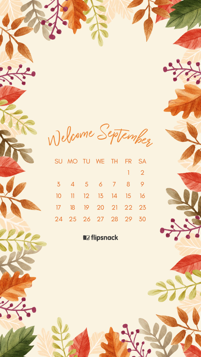 Attractive September 2017 Wallpaper. Download Calendar: 1920×1080, 1366×768, 640×1136