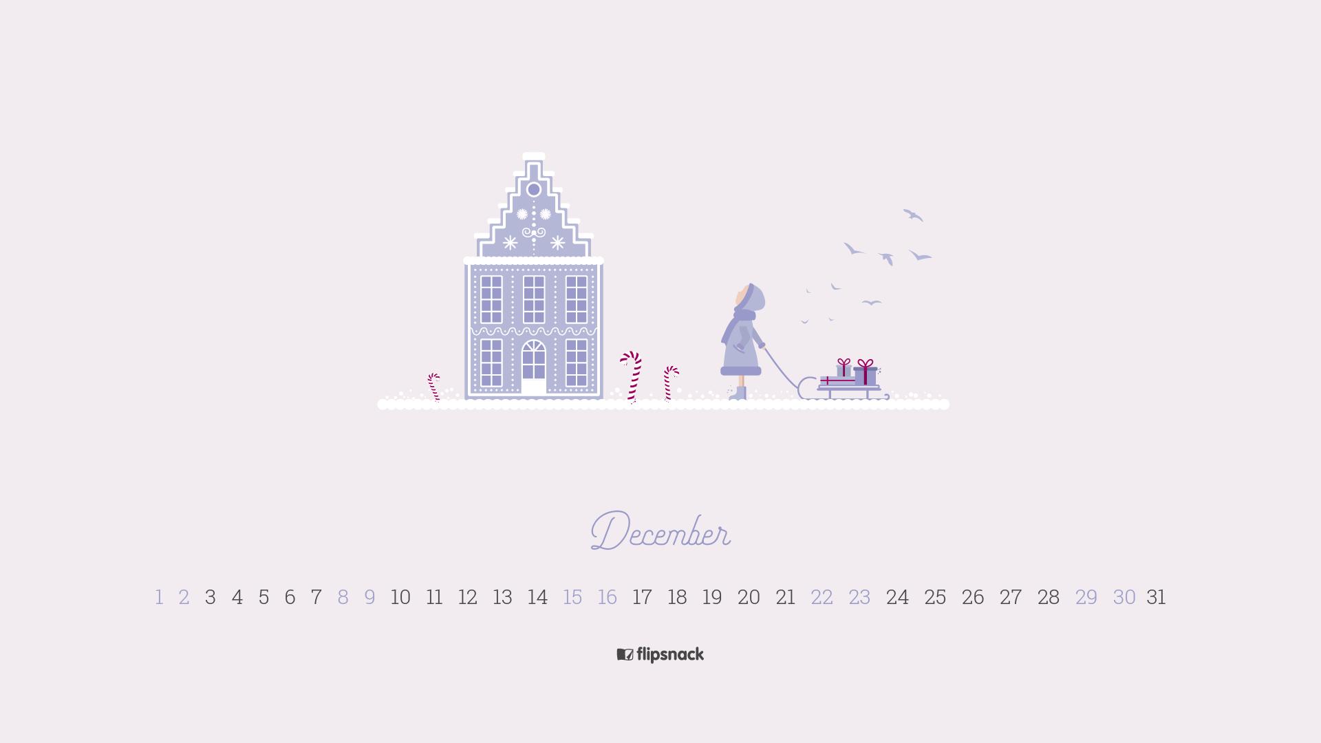 Free December 2018 Wallpaper Calendars Flipsnack Blog