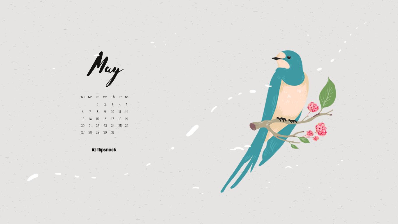 May 2018 calendar wallpaper for desktop ...