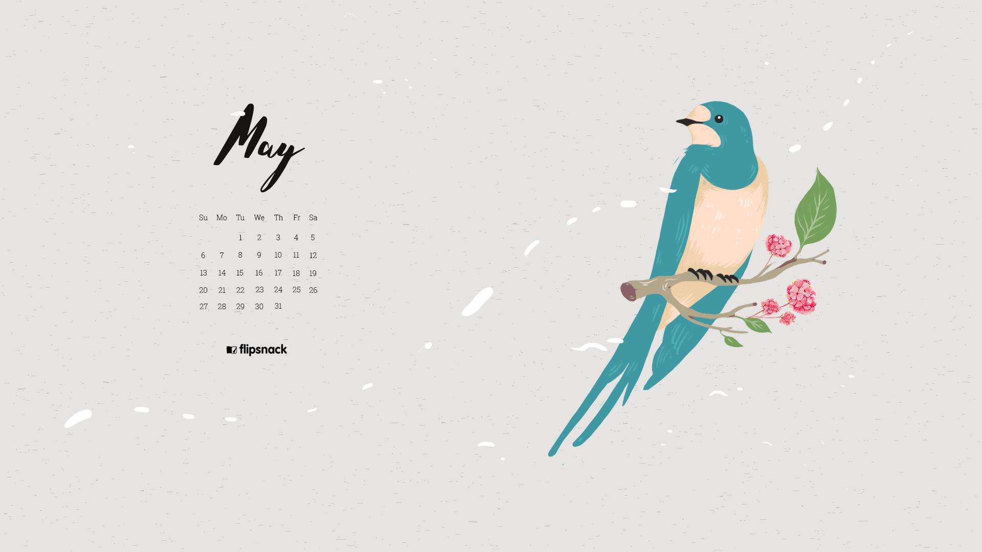 May 2018 Calendar Wallpaper For Desktop Smartphone