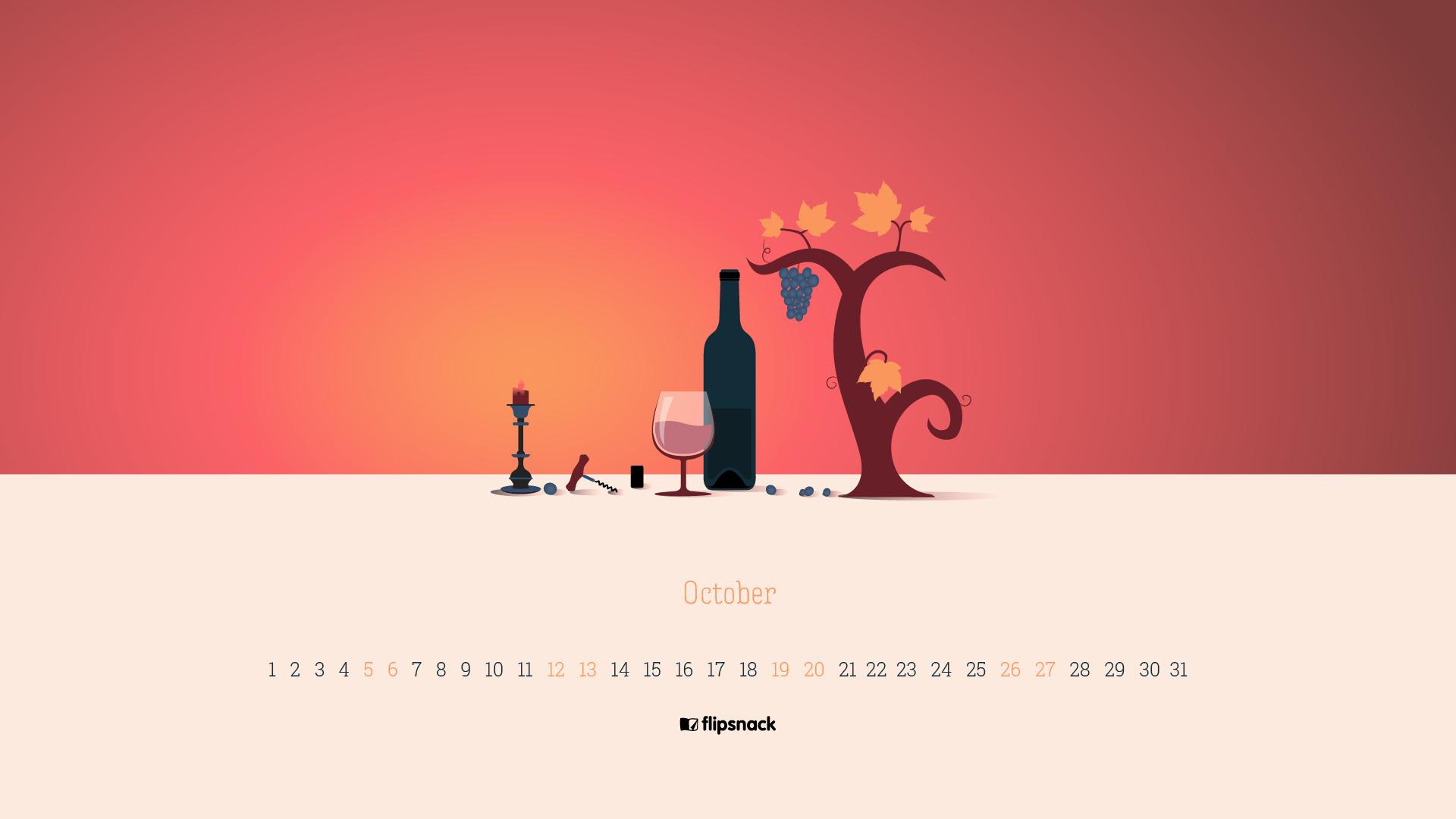 Free October 2019 Wallpaper Calendars Flipsnack Blog