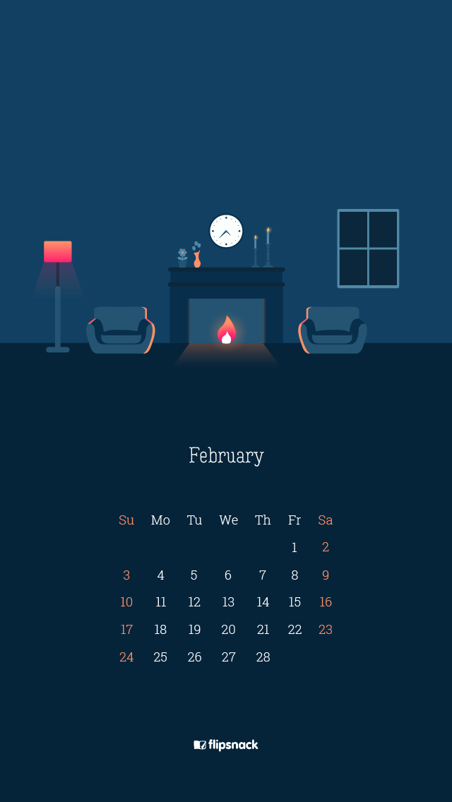 Calendar February 2019 Snake Background Free February 2019 wallpaper calendars   Flipsnack Blog