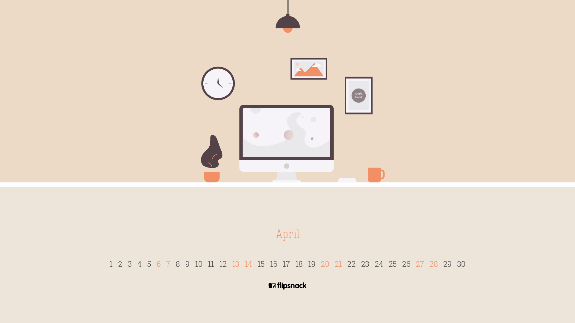 Free April 2019 Wallpaper Calendars Flipsnack Blog