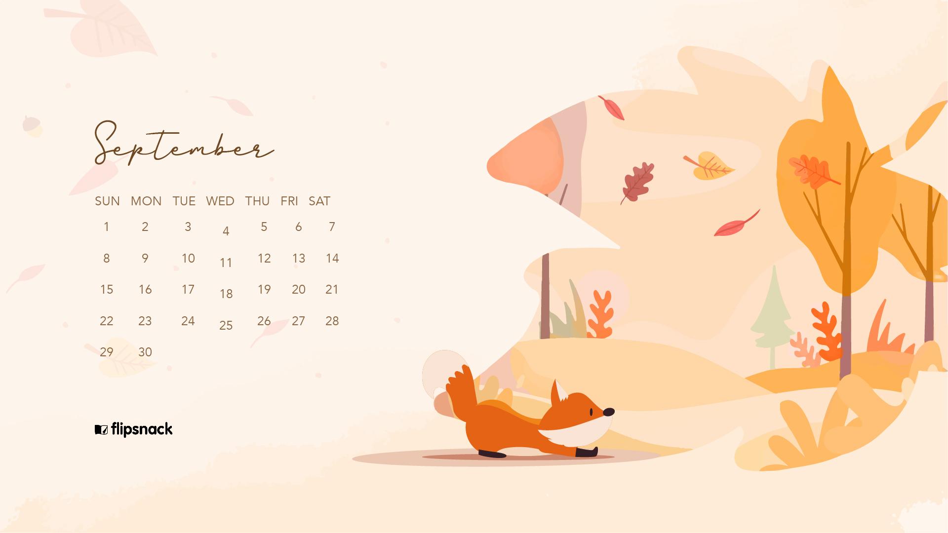 Free September 2019 Wallpaper Calendars Flipsnack Blog