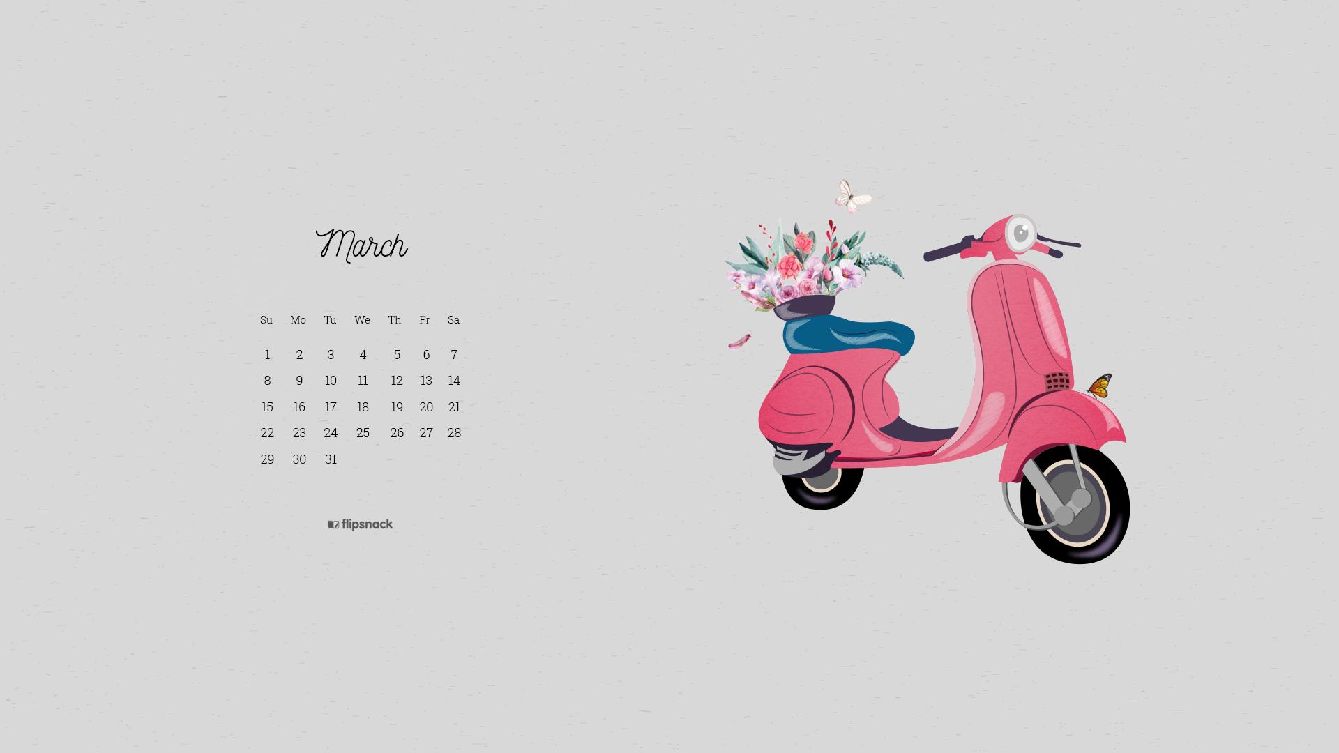 march calendar 2020 wallpaper