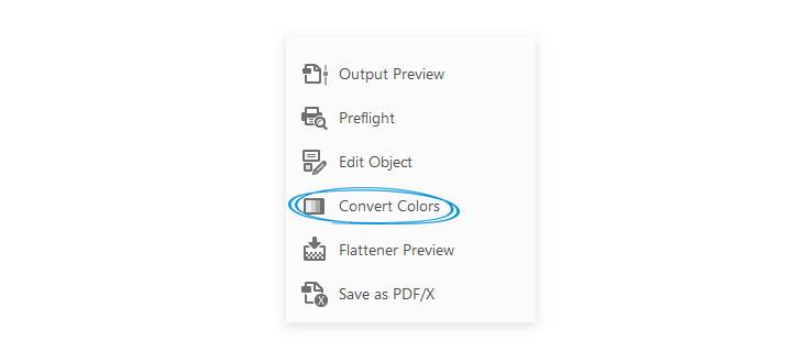 Reduce PDF size - Convert Colors