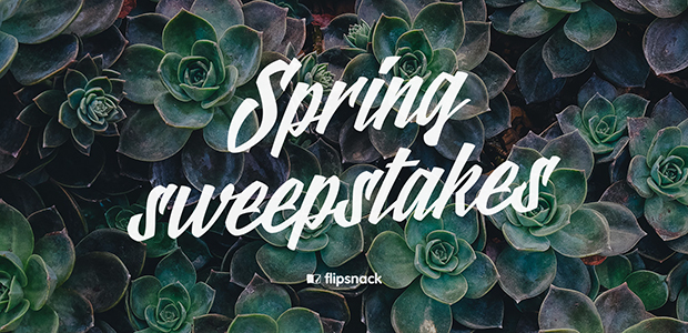 Spring sweepstakes