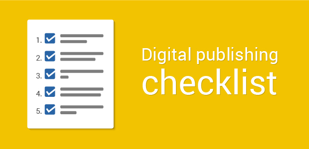 Digital publishing checklist