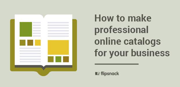 Professional online catalogs