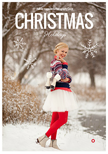 Christmas magazine template