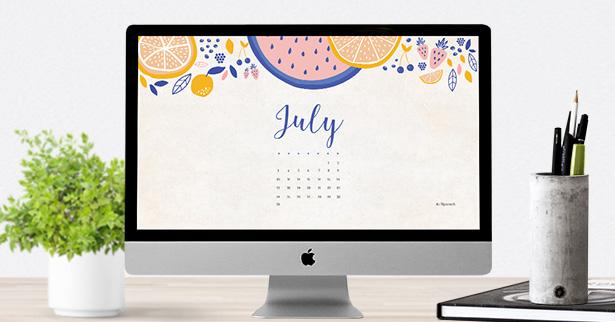 calendar july 2016 wallpaper