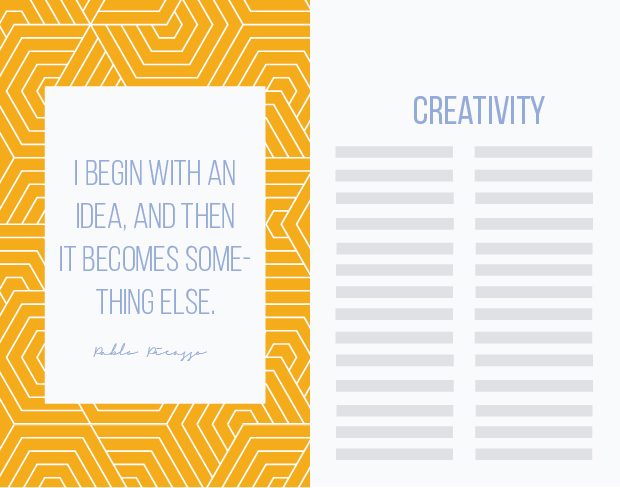 quote layout for editorial design