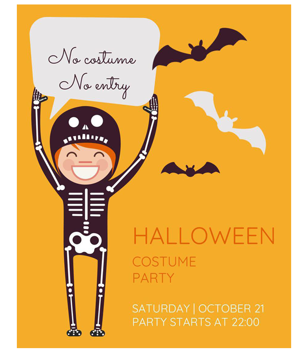halloween party invitation flyer template