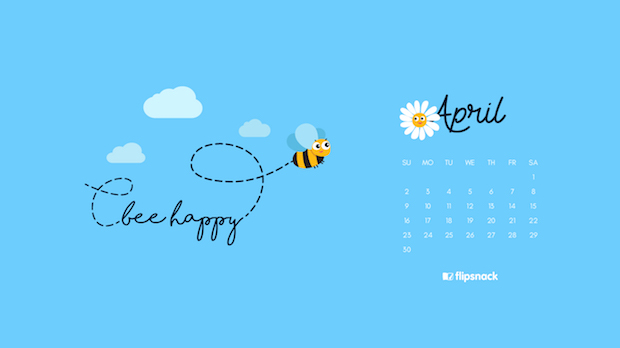 Freebie April 2017 Wallpaper Calendar Desktop Background