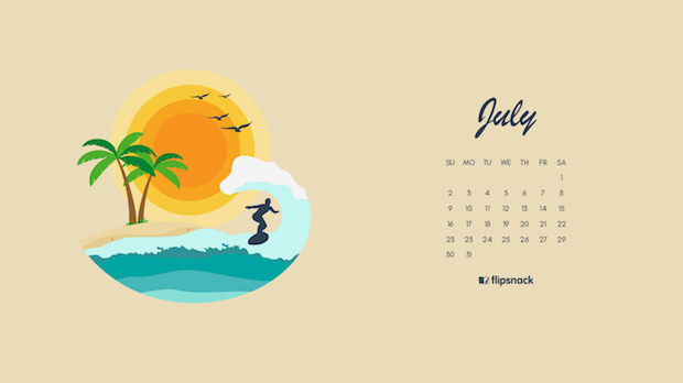 wallpaper calendar July 2017
