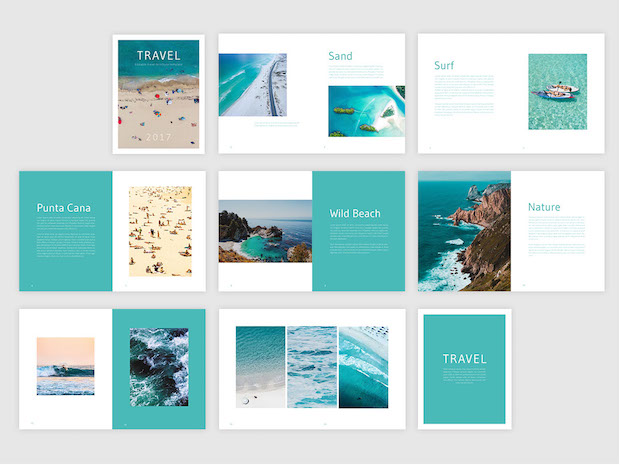Free travel brochure template free indesign template for Travel brochures templates