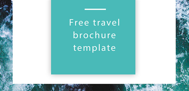 travel brochure template free indesign