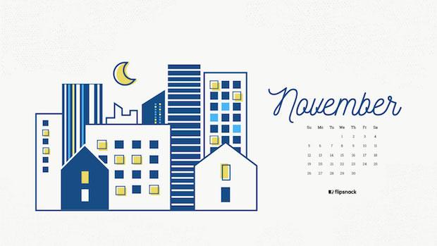 November 2017 calendar desktop