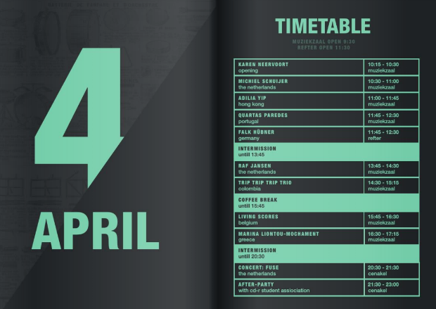 event program timetable
