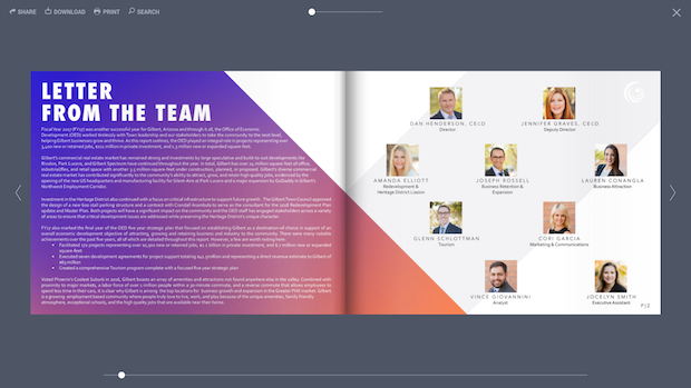 report layout design