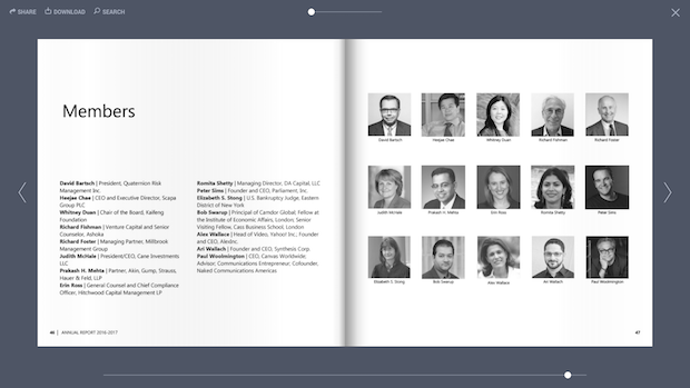Board members page