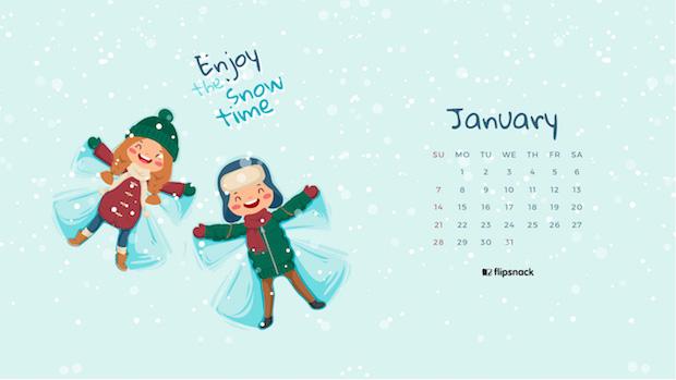 desktop calendar wallpaper January