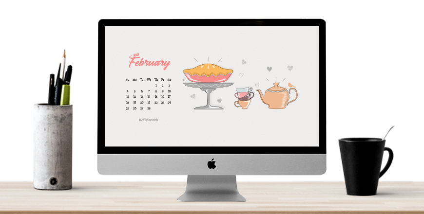 february 2018 wallpaper calendar desktop background
