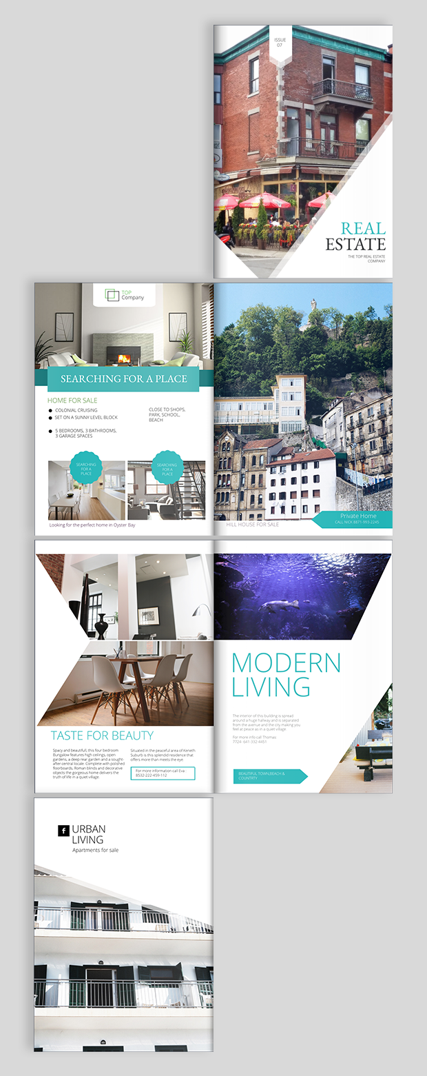 Real Estate Brochure Design Templates And Ideas - Free real estate flyer templates download