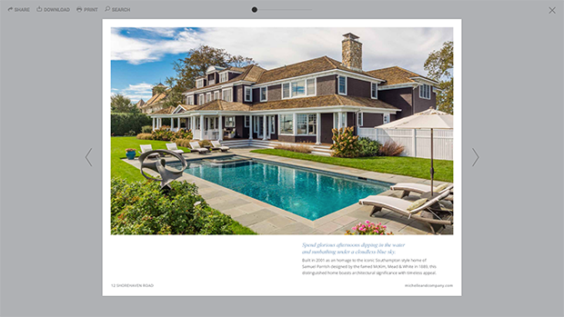 brochure design for real estate samples